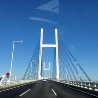 Photo taken at Yokohama Bay Bridge by Orange on 12/6/2012