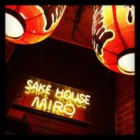 Photo taken at Sake House Miro by ryanrobot on 10/2/2012