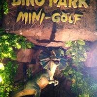 Photo taken at Dino Park Mini Golf by Roman S. on 10/24/2012