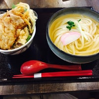 Photo taken at うどん AGATA (縣) by Takahiro on 10/2/2016