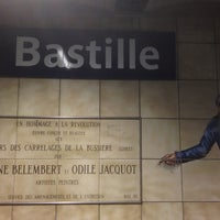 Photo taken at Métro Bastille [1,5,8] by Avilon J. on 3/23/2013