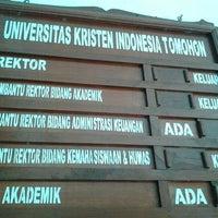 Photo taken at Universitas Kristen Indonesia Tomohon (UKIT) by Ghikz'van U. on 1/30/2013