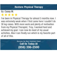 Photo taken at Restore Physical Therapy by Restore Physical Therapy on 7/10/2017