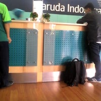 Photo taken at Garuda Indonesia Sales & Ticketing Office by Agnes P. on 5/12/2014