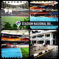 Photo taken at Stadium Nasional Bukit Jalil by LC Yaw on 6/16/2013