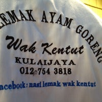 Photo taken at Warung Nasi Lemak Wak Kentut by Apai on 3/25/2013