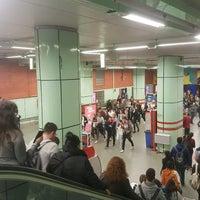 Photo taken at Metro Ciudad Universitaria by David E. on 4/27/2017