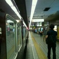 Photo taken at Sakaisuji-Hommachi Station by Hisa T. on 8/11/2013