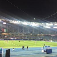Photo taken at Jaber AlAhmad International Stadium by Mohammad B. on 2/21/2017