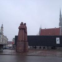 Photo taken at Strēlnieku laukums by Fevzi T. on 4/4/2013