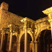 Photo taken at Hadrian's Gate by Fevzi T. on 3/9/2013