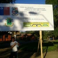 Photo taken at Plazoleta Diego Portales by Felipe N. on 10/31/2012