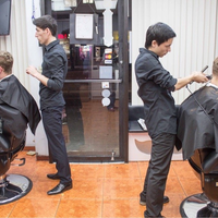 Photo taken at Rafael's Barbershop by Rafaels B. on 9/1/2015