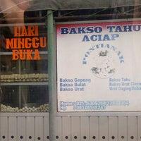 Photo taken at Bakso Tahu Aciap by amanda s. on 2/8/2013