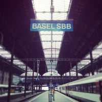 Photo taken at Basel SBB Railway Station by Milos R. on 5/6/2013