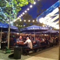 Photo taken at Zeppelin Hall Biergarten by Timothy A. on 6/9/2013
