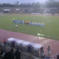 Photo taken at Thupatemee Stadium Home of AFU  by Sombat K. on 9/11/2011