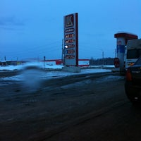 Photo taken at АЗС Транзит (Лукойл) by Dennis R. on 3/15/2013