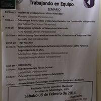 Photo taken at Facultad de Odontología by Marialelita L. on 2/8/2014