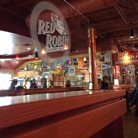 Photo taken at Red Robin Gourmet Burgers by Derrick M. on 2/22/2014