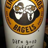 Photo taken at Einstein Bros Bagels by Bebby J. on 9/26/2012
