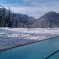 Photo taken at Badehaus Schloss Elmau by Sergey D. on 1/15/2013