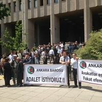 Photo taken at Ankara Courthouse by Levent H. on 6/12/2013