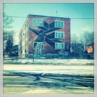 Photo taken at Rynek w Serocku by Dasha P. on 3/18/2013
