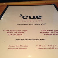 Photo taken at 'Cue Barbecue by Bobby M. on 2/14/2013