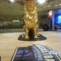 Photo taken at MGM Grand Lion Statue by John V. on 3/23/2013