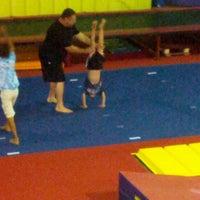 Photo taken at Gwinnett gymnastics center by Debbie O. on 8/26/2013