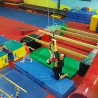 Photo taken at Gwinnett gymnastics center by Debbie O. on 10/28/2013