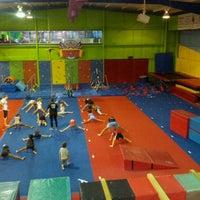 Photo taken at Gwinnett gymnastics center by Debbie O. on 9/9/2013