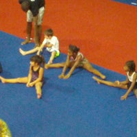 Photo taken at Gwinnett gymnastics center by Debbie O. on 9/23/2013