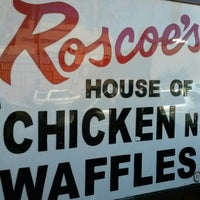 Photo taken at Roscoe's House of Chicken and Waffles by Lawrence C. on 10/14/2012