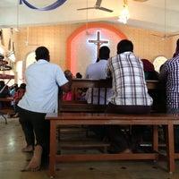 Photo taken at St. Judes Church, Minjur. Kaatu Kovil by Uzhaganayagan S. on 4/21/2013