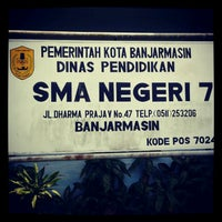 Photo taken at Sman 7 Banjarmasin by Mien S. on 9/13/2012