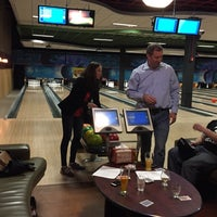 Photo taken at Strike Ten Lanes and Lounge by Bridget M. on 3/20/2015