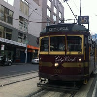 Photo taken at Tram Stop 5 - Melbourne Central (19/57/59) by Ronald L. on 1/12/2013