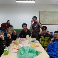 Photo taken at 金城國中 Jincheng Junior High School by Anna B. on 1/24/2014