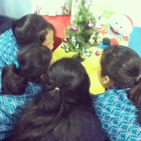 Photo taken at Library Global Jaya International School by Nadya S. on 12/11/2012