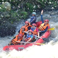 Photo taken at Arus liar, citarik Rafting sukabumi West Java by Azzam Levine A. on 7/30/2013