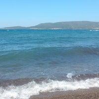 Photo taken at karapinar plaj by Esra Z. on 7/4/2013