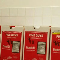 Photo taken at Five Guys by Joshua S. on 4/9/2016