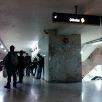 Photo taken at Metro Saldanha [AM,VM] by Daniela G. on 10/25/2012