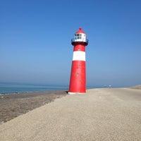 Photo taken at Vuurtoren Noorderhoofd by Helma on 9/18/2014