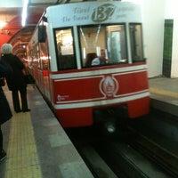 Photo taken at Tünel Tramvay Durağı by Yahya E. on 12/21/2012
