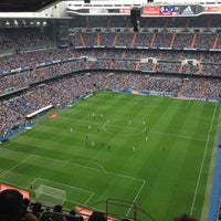 Photo taken at Santiago Bernabéu Stadium by Tayyar on 10/19/2013