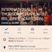 Photo taken at Pat's Pizza & Pasta/MVP Sports Lounge by DJ BIS on 3/20/2014