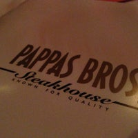 Photo taken at Pappas Bros. Steakhouse by Eric A. on 3/15/2013